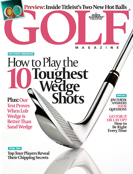 10 Tips from December's Golf Magazine                           The top 10 things in this month's issue of GOLF Magazine that will improve your game right now!                                                                                                            1. How to choose the right wedge                           The question isn't if you should carry a lob wedge (you should!)                           but when you should use it. Golf Magazine's December cover                           story proves that you can hit the ball as much as 41 percent closer                           when you pick the right club. Here's what we found:                           • Pitch from fairway: Use lob wedge (41% closer)                           • Pitch from rough: Use lob wedge (40% closer)                           • Pitch from hardpan: Use sand wedge (34% closer)                           • Chip from fairway: Use sand wedge (29% closer)                           • Chip from uphill rough: Use sand wedge (29% closer)                           • Standard bunker shot: Use lob wedge (34% closer)                           • Deep-faced bunker shot: Use lob wedge (30% closer)                           • Buried-lie bunker shot: Use either one                                                      • Find out how to master all these wedge shots and get short-game tips from top Tour pros like Ernie Els.