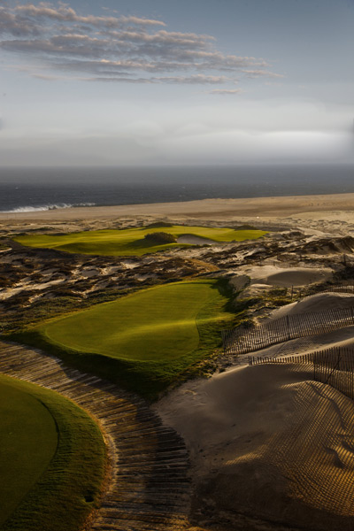 Diamante (Dunes) (No. 58 World): Assisted by his brother Mark and associate Paul Cowley, Davis Love III carved a memorable test from the ocean dunes in Mexico's Cabo San Lucas. The variety at Diamante is evidenced by the par 3s, which range from 154 to 290 yards and include the 2nd, with a green cut into sandhills; the 11th, which overlooks a vast beach; and the tiny 16th, its target obscured by sand and scrub.