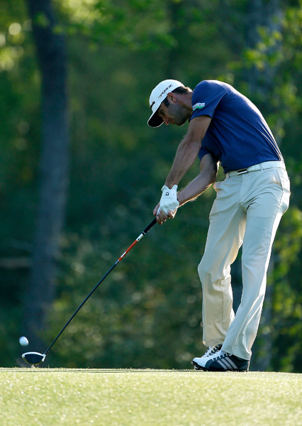 Dustin Johnson is five back after a two-under 70.