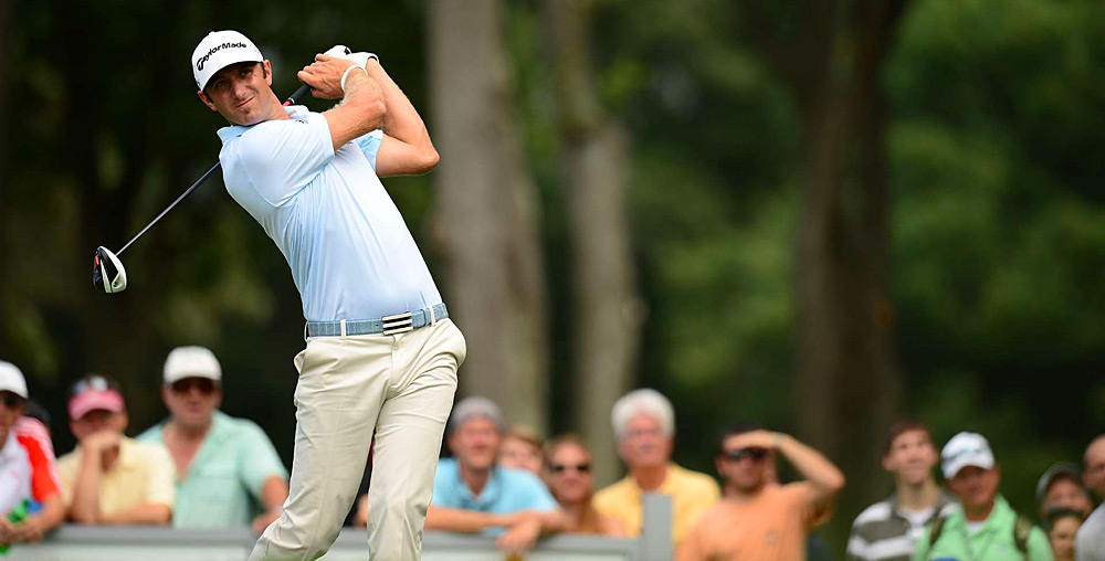 Dustin Johnson had a good round going until a double bogey on 18.