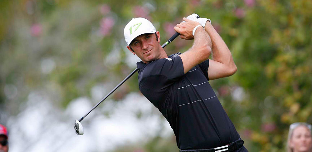 Dustin Johnson made seven birdies and three bogeys for a 68.