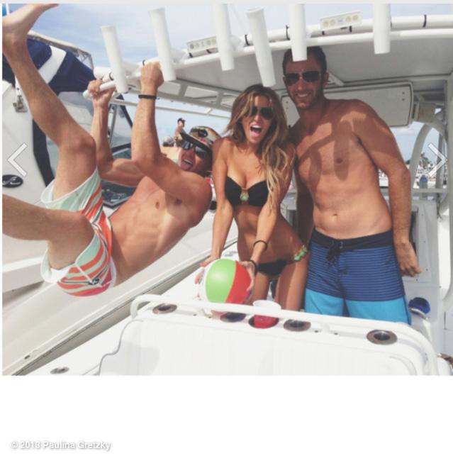 @PaulinaGretzky:: The 3 Amigos @DJohnsonPGA & Austin