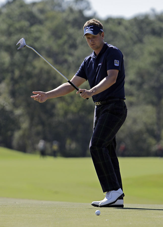 World No. 1 Luke Donald is still in contention, but he only managed a 71 on Friday.