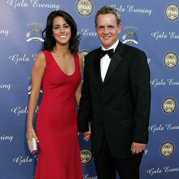 Luke Donald with girlfriend Diane Antonopoulos.