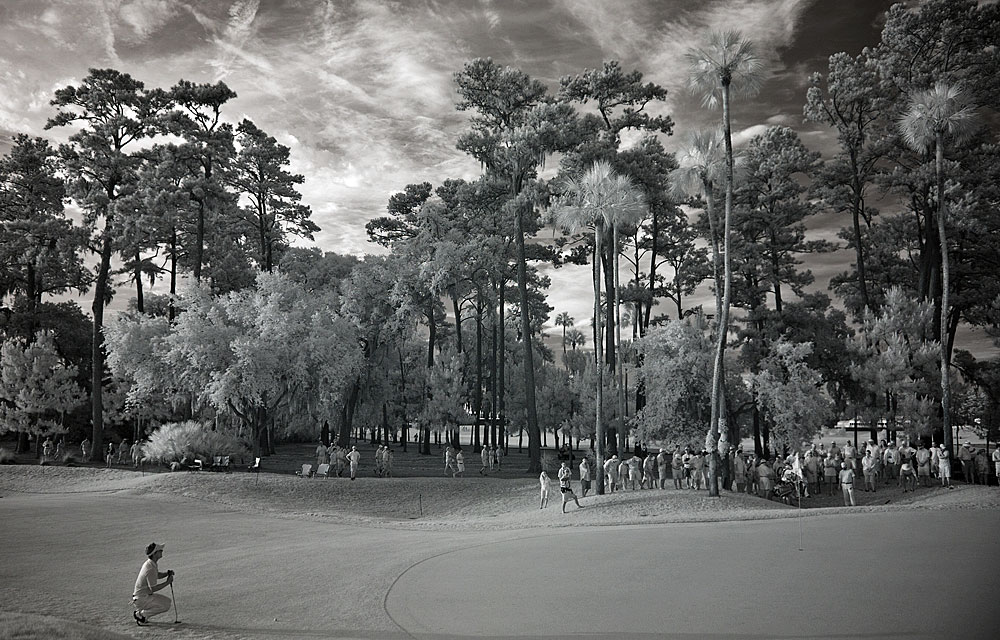 Photographer Robert Beck captured this unique image of Luke Donald at the Players Championship by modifying the sensor of a Nikon D300 to record infrared light we cannot normally see.