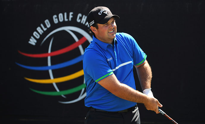 Patrick Reed tees off on the first hole during the third round of the World Golf Championships-Cadillac Championship at Blue Monster, Trump National Doral on Saturday.
