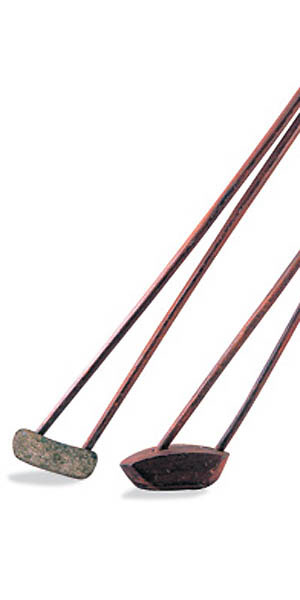 The forked shaft                                                      Isaac Palmer's forked-shaft driver and iron from 1901 hinged on his contention that extending the shaft to both the heel and toe would reduce clubhead twist at impact. The clubs were a bust, but Palmer didn't give up: his fork-hosel putter was a hit a few years later.