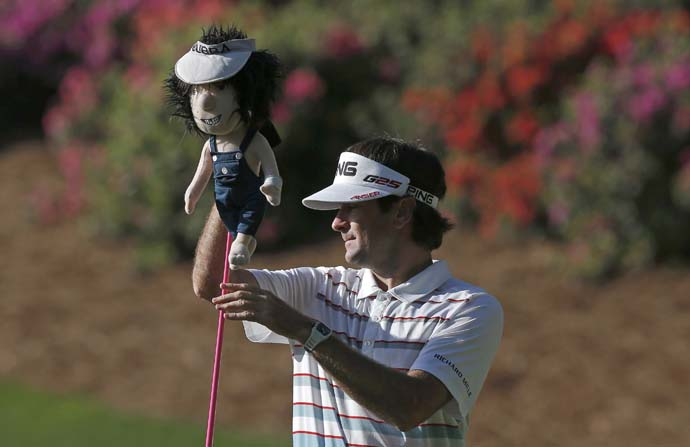 What's your favorite club?                            Driver: 27%                           LW: 16%                           All: 6%                           SW: 3%                           4-iron: 3%                           Putter 45%                            Photo: Bubba Watson with his driver.