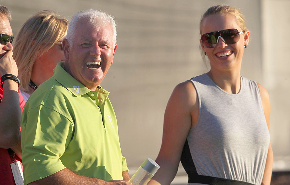 Dec. 10, 2011: Wozniacki also spent time with Gerry McIlroy at the Dubai World Championship.