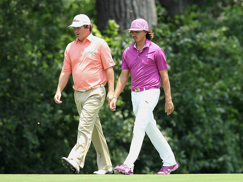 Last week's winner Jason Dufner played with Rickie Fowler in the first round at Colonial. Dufner shot a 65 to get within one stroke of the lead.