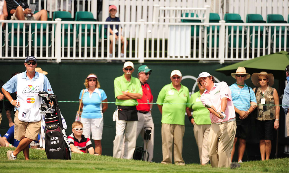 Jason Dufner got to nine under and is tied for second with McDowell.