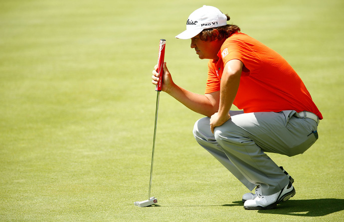 Jason Dufner made five bogeys and three birdies for a two-over 72.