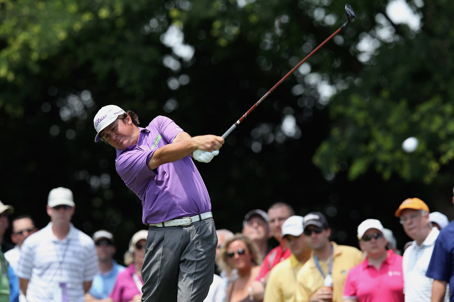 Jason Dufner leads Zach Johnson by one stroke heading into the final round. He'll try to win his third title in five weeks on Sunday.