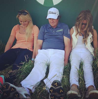 "Lindsey Vonn shared this photo of her Dufnering with the man himself on Instagram: @jasondufner Nadine and I ""dufner-ing"" today after the practice round lol :) #dufnering #britishopen #dufnerishilarious"