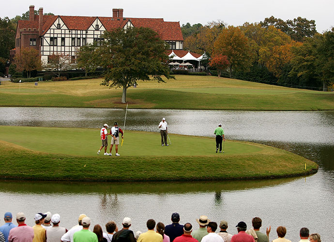 "Jones called East Lake's original design ""strange.""                       Bobby Jones first played East Lake as a 6-year-old in 1908. Of the Tom Bendelow design, which was scuttled in 1913, Jones said, ""It was sort of a strange layout as golf courses go, because it only had two par-3 holes, the 1st and 3rd. The rest were short par 4s and 5s."""