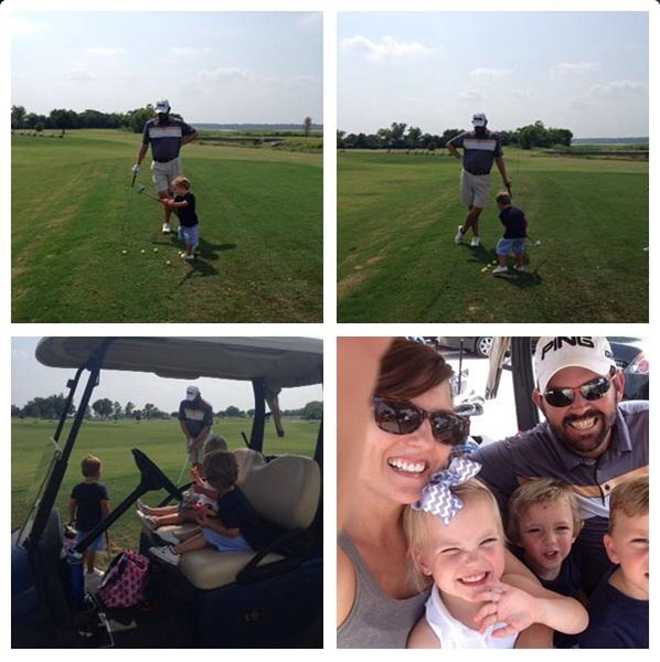 @BigEinBigD Got in some quality time with these 3 at the course yesterday before heading to canada this morning..awesome times