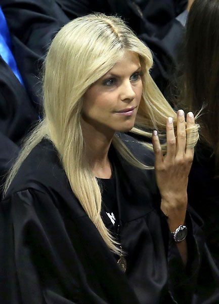 """I probably should have taken more notes in that class.""                           --Elin Nordegren on finishing a class in communication and media just prior to her then-husband Tiger Woods' public scandals. Nordegren spoke as the outstanding graduating senior at Rollins College graduation on Saturday."
