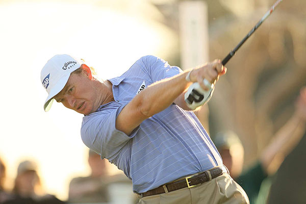 Ernie Els is even par after the first round.