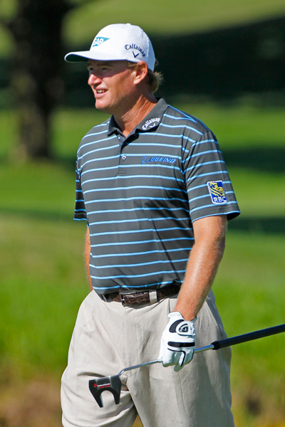 Ernie Els shot even par on Friday.