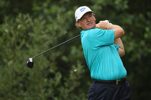 With a double bogey on the second, Ernie Els shot a one-over 72.