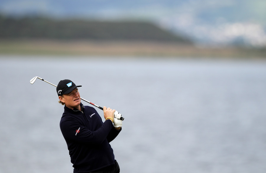 Despite two double bogeys, Ernie Els shot a two-under 70.