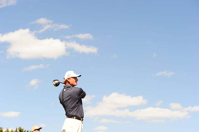 Ernie Els tees off on 8th hole at the WGC event at Doral in 2010. Els won the tournament.