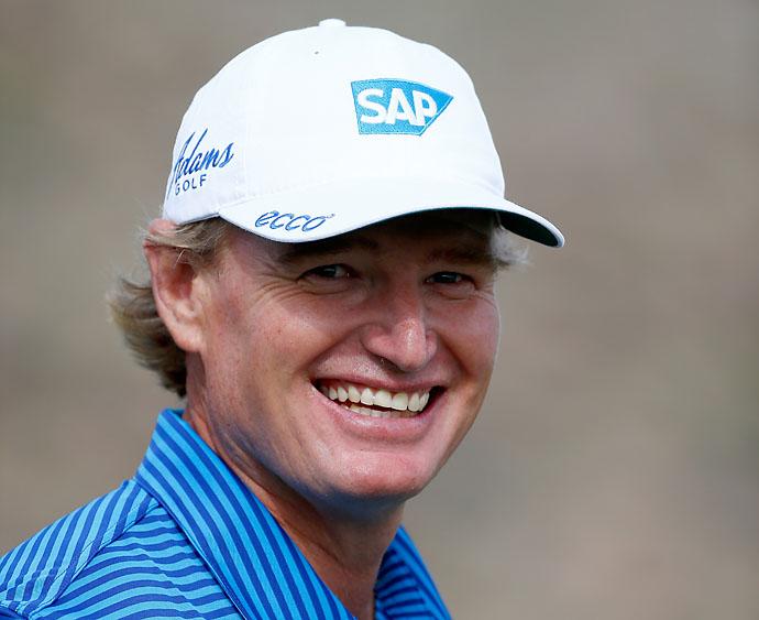 """At 44, you know, you're out of most professional sports by 15 years. Here I am still playing and competing against the youngsters, so it's quite amazing. It's a nice job to have sometimes.""                       --Ernie Els on playing against younger players on the PGA Tour."