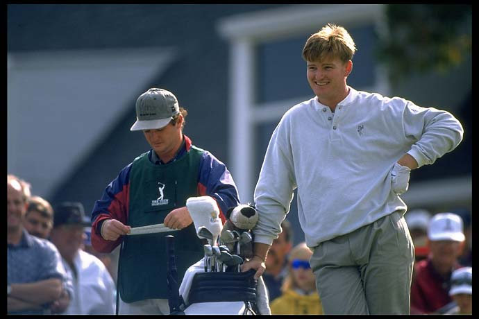 Ernie Els at the 1996 PGA Championship at Valhalla Golf Club in Kentucky.