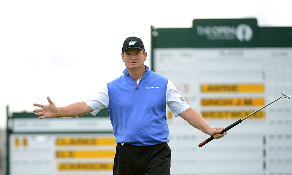 Ernie Els, who won in 2002, opened with a three-under 67.