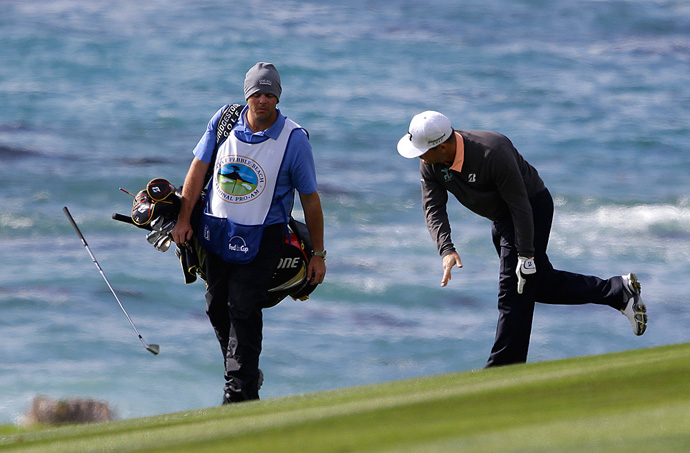 Seems Matt Every was the only person not enjoying his round at the 2013 Pebble Beach Pro-Am.