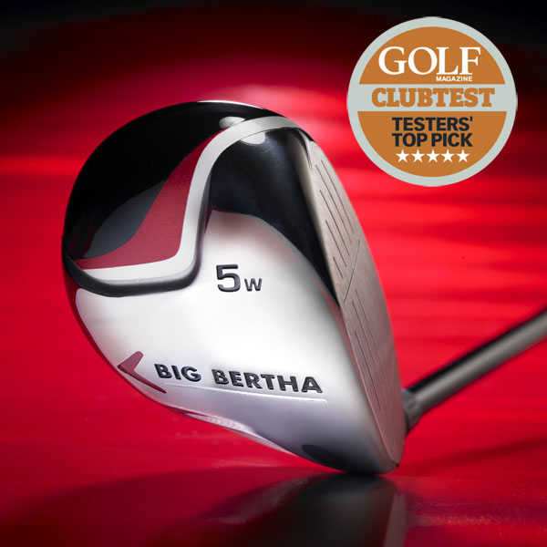 "Callaway Big Bertha                           $179, steel;$199, graphite; callawaygolf.com                           • Go to Equipment Finder profile to tell us what you think and see what other GOLF.com readers said about this club.                                                      Video: ClubTesters on the Callaway Big Bertha fairway woods                                                      We tested: 3 (16°), 5 (19°), 7 (22°), 9 (25°) in                           Big Bertha graphite shaft                                                      Company line: ""Our oversize steel head has a                           high-MOI with a low center of gravity due, in                           part, to a low leading edge and large wide                           face. It has a 'consistent alignment sole' plus                           'correct alignment stripe' along the crown.""                                                      Our Test Panel says: The easiest-to-hit                           fairway woods; aim at the green and expect                           no curves — the heads just kill sidespin;                           comfortable, stable and predictable feel — plenty of zing without the sting;                           performance from rough far exceeds what is                           expected from a large-headed fairway wood.                                                      These simply won't let me                           hit it crooked.—George Irwin, 15 Handicap"