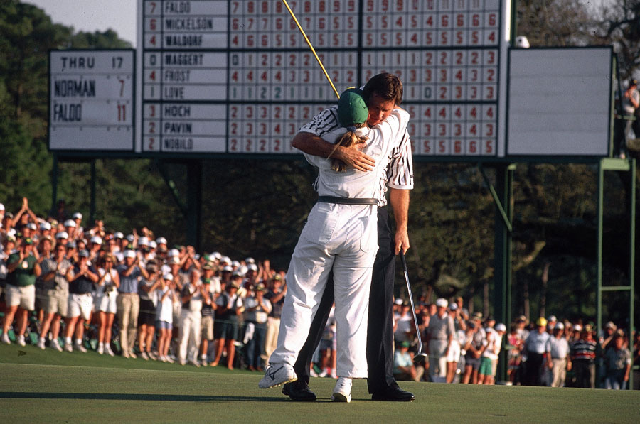 Faldo shot a final-round 67 to win his third green jacket.