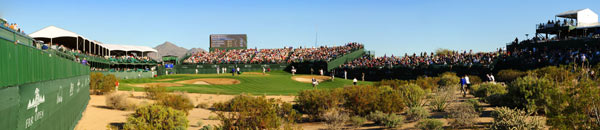 16th at TPC Scottsdale                                                      The 16th is known for its rowdy, sometimes obnoxious, crowds. Here's a look at some of the fans at the 2009 FBR Open.