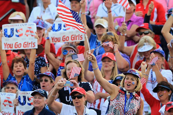 The American fans were loud during Saturday morning matches at Colorado Golf Club.