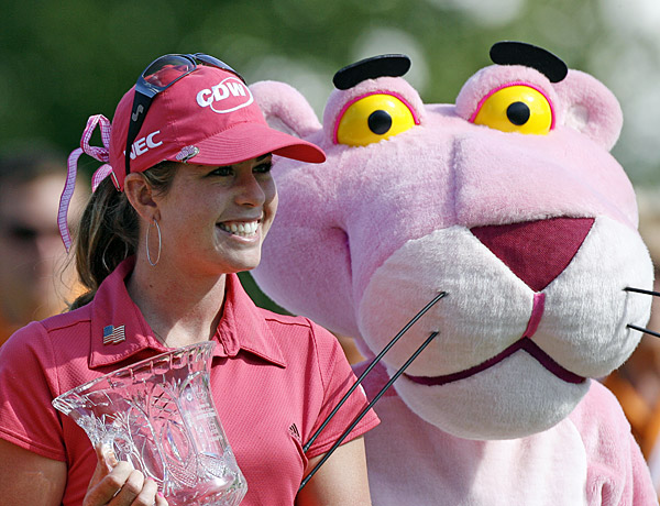 The mascot of the Jamie Farr Owens Corning Classic is the Pink Panther, so it should come as no surprised that Creamer won the event in 2008.