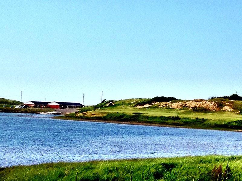 """@eamonlynch: My favorite hole, the 9th, which doglegs left around MacIssac's Pond. Birdie yesterday, today....."""