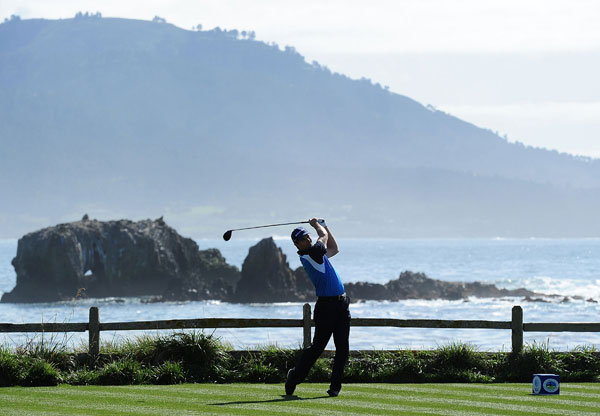 shot a bogey-free 67 at Pebble Beach.