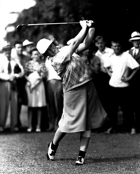 "3. Patty Berg                           	Nobody gave more clinics and exhibitions than Berg, a wholesome, freckled redhead who could deliver hammy jokes with a vaudevillian's timing. Patty could also play, as evidenced by her 60 LPGA wins and three-time selection as AP Female Athlete of the Year. ""She has done more to promote golf,"" said fellow Hall of Famer Betsy Rawls, ""than any person in the history of the game."""