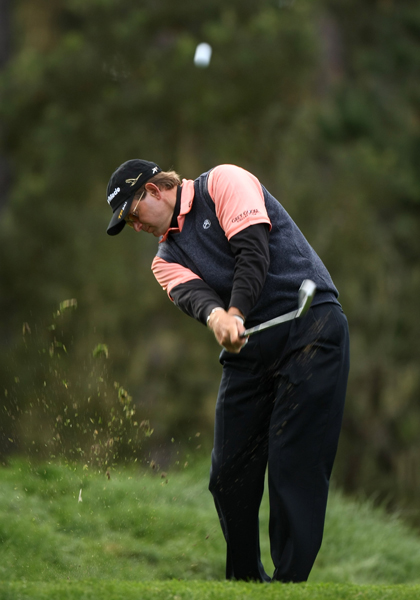 Retief Goosen struggled at Spyglass Hill, shooting a 2-over 74.