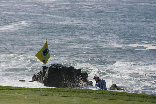 Charley Hoffman made six bogeys and four birdies at Pebble Beach.
