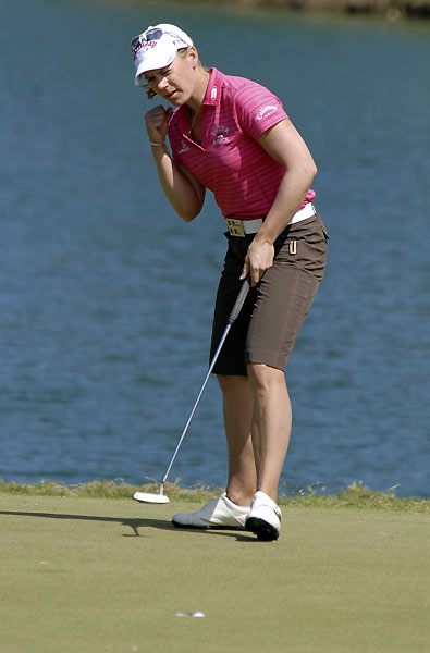 Second Round of the SBS Open                       Annika Sorenstam rallied on the back nine with five birdies to shoot a 67.