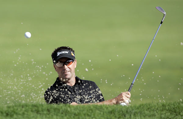 Robert Allenby had a rough day, dropping from a tie for second, to a tie for 23rd after a four-over 75.