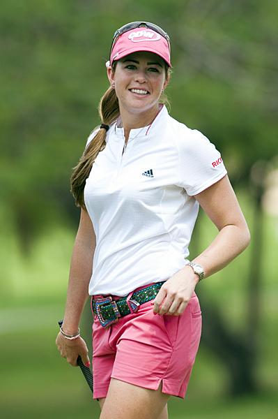 Paula Creamer made five birdies and three bogeys in the opening round of the LPGA Tour season.
