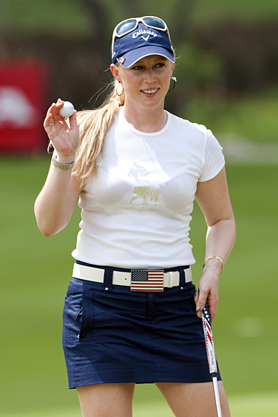 Morgan Pressel opened her season with a 2-under 70.