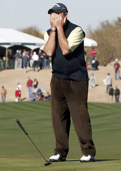 Rich Beem was near the lead until he made three straight bogeys on his second nine.