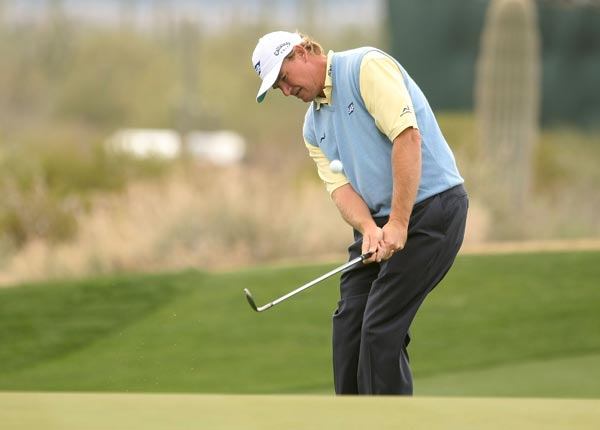 Ernie Els, a late entrant to the tournament, lost his match to Jonathan Byrd after just 13 holes. Byrd was 6 up.