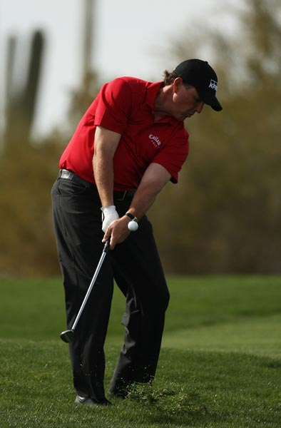 Phil Mickelson controlled much of his match against Pat Perez until Perez squared things on the 15th hole.