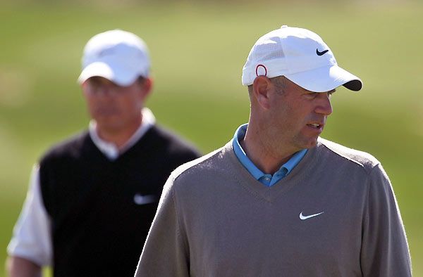 Woods will face Stewart Cink in the finals. Cink beat Justin Leonard, 4 and 2.