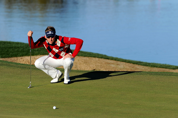 Ian Poulter won't be around to defend his title. Poulter lost to Stewart Cink in 19 holes.