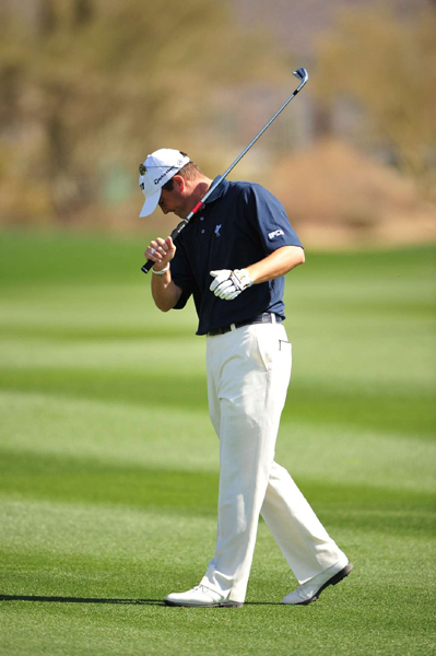 Ryan Palmer lost his match against Miguel Angel Jimenez, 4 and 2.